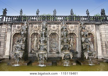 Hannover, Germany - 30 July: It's Ranks The Most Important Gardens In Europe. Grand Cascade On Garde