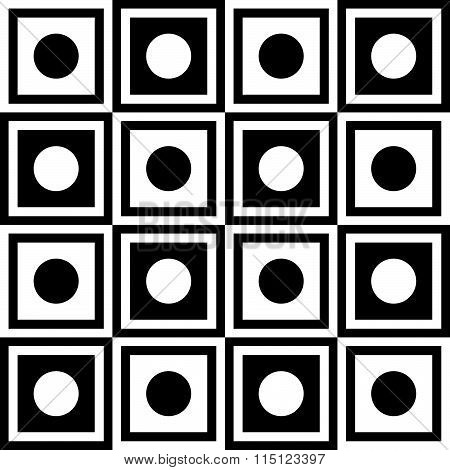 Abstract Monochrome Pattern, Minimal Geometric Background. Seamlessly Repeatable.