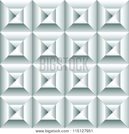Abstract 3D Surface, Revetment Background. Repeatable Pattern.