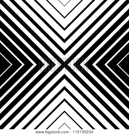 Seamless Monochrome Pattern With Square Shape. Abstract Grid, Mesh Texture. Vector.