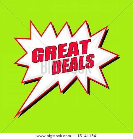 Great Deals Wording Speech Bubble
