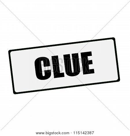 Clue Wording On Rectangular Signs