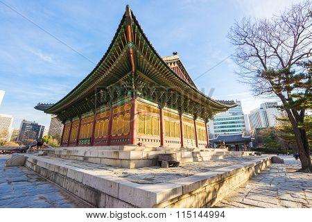 Deoksugung Palace In Seoul, South Korea