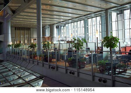HONG KONG - MAY 06, 2015: HSBC Main Building in Hong Kong. HSBC Holdings plc is a British multinational banking and financial services company headquartered in London, United Kingdom.