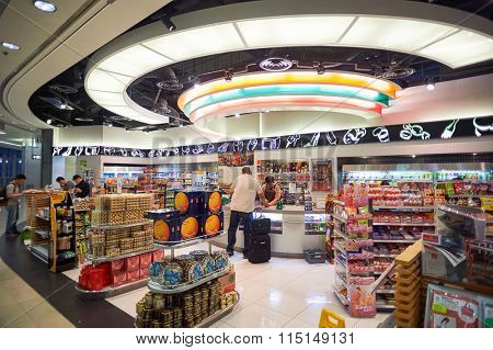 HONG KONG - MAY 06, 2015: interior of 7-Eleven shop. 7-Eleven or 7-11 is an international chain of convenience stores and primarily operates using the franchise model.