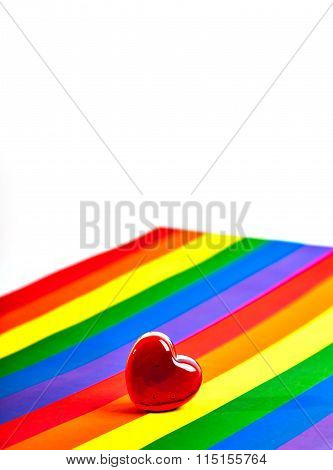 red heart. Same-sex love.