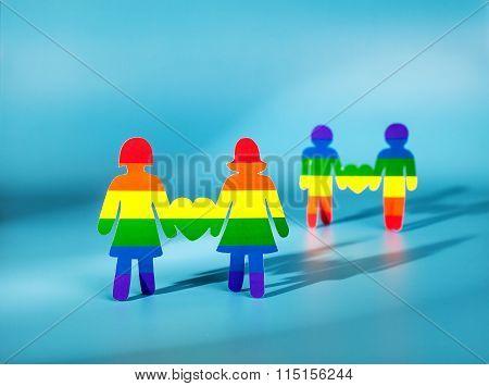 Same-sex love. Gay and lesbi.