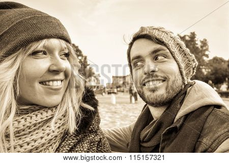 Young Couple Smiling Outdoor - Best Happy Friends Facial Expressions For Reconciliation