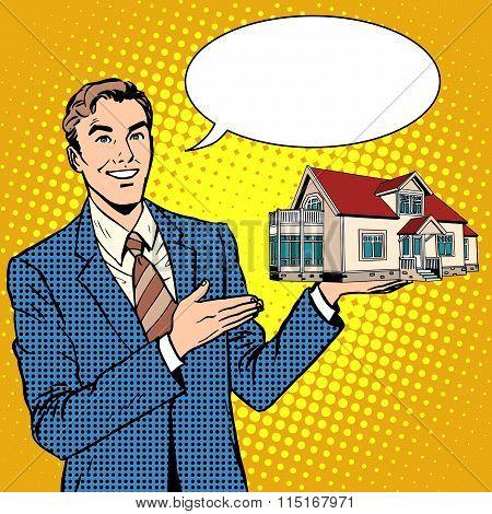 Realtor businessman offers home