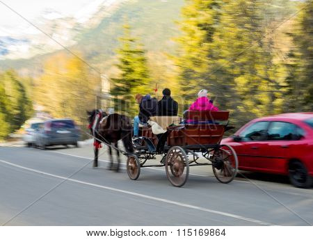 Moving Horse Carriage