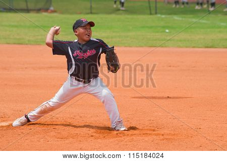 Zhongshan Panda Cup, Zhongshan, Guangdong - August 4:unknown Pitcher Throwing The Ball During A Matc
