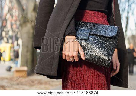 Detail Of Bag At Milan Men's Fashion Week 2016
