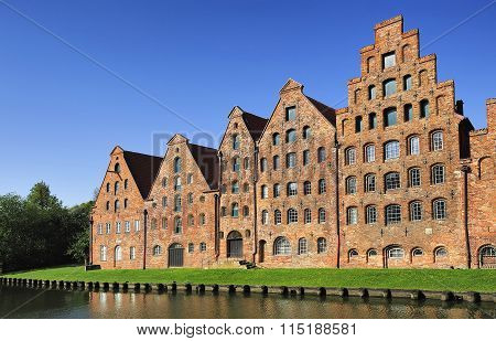 The Salzspeicher (salt Storehouses), Lubeck, Germany.