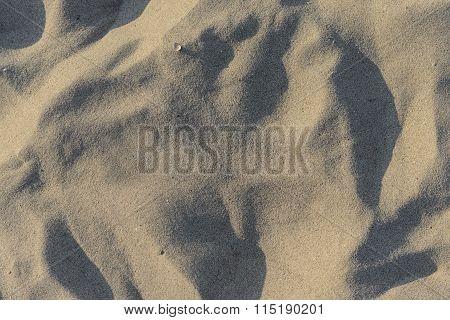 Closeup Of Sand Pattern Of A Beach