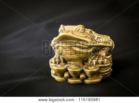 Chinese Feng Shui Frog with coins, symbol for abundance and luck