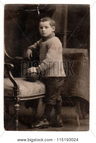 The studio photo of a small boy circa 1930.
