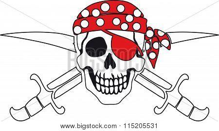 Pirate symbol Jolly Roger