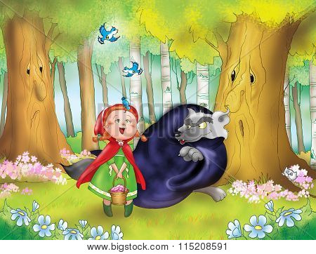 Red riding hood and bad wolf