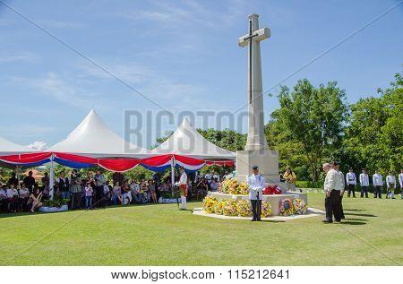 Rememberance Day At Veteran Memorial Park Labuan FT, Malaysia
