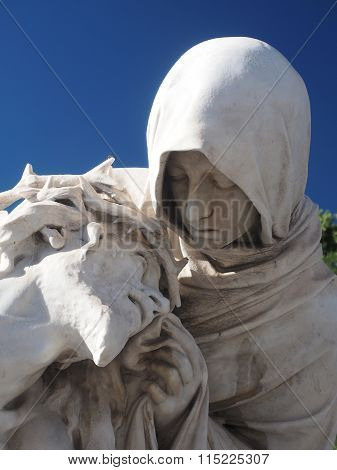 Detail Statue  Basilica Notre Dame Marseille France Europe