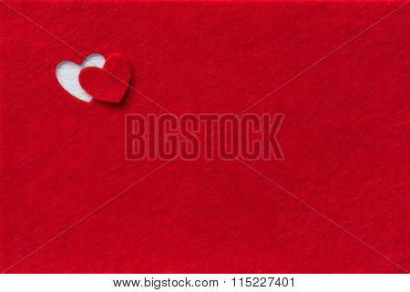Felt Background for design to Valentine's Day