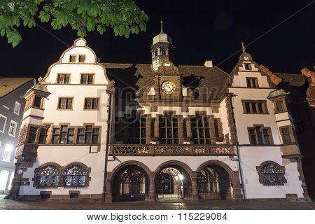 Old Town Hall (altes Rathaus) In Freiburg Im Breisgau, Germany