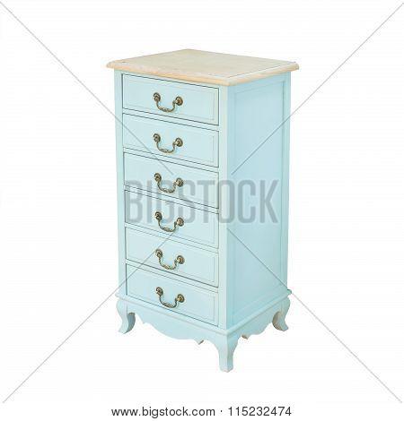 Luxury blue vintage style Bedside table