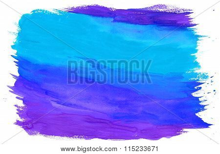 Painting Textured Background Blue And Purple