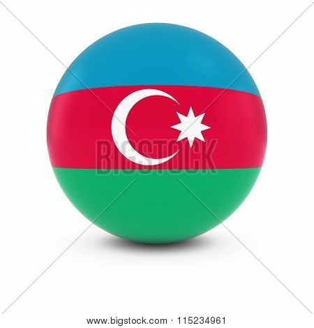 Azerbaijani Flag Ball - Flag Of Azerbaijan On Isolated Sphere