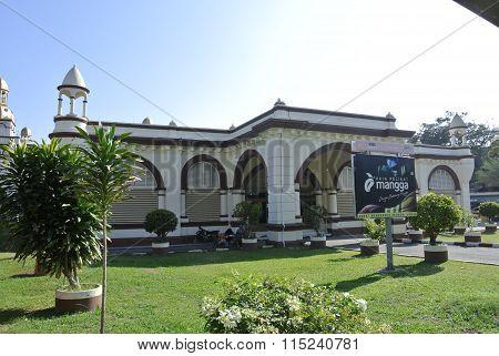 Old tomb at Muhammadi Mosque or The Kelantan State Mosque in Kelantan, Malaysia