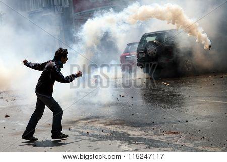 Tear Gas on May Day
