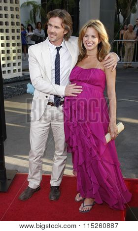 HOLLYWOOD, CALIFORNIA - June 21, 2011. Sam Trammell and Missy Yager at the HBO's season 4 premiere of