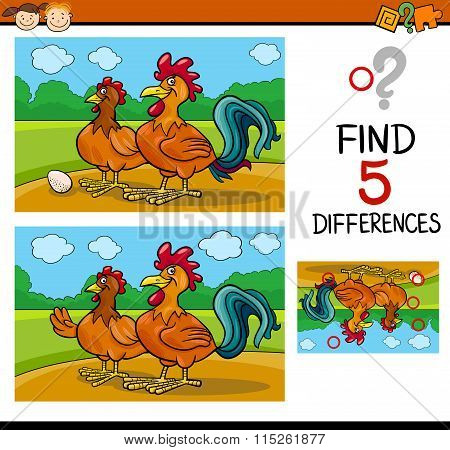 Task Of Differences For Child