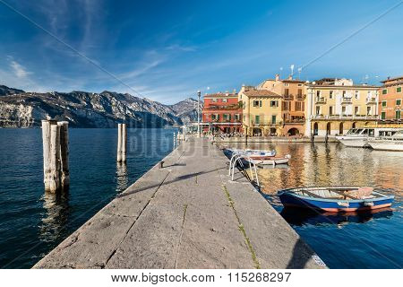 Malcesine Is A Small Town On Lake Garda (italy).