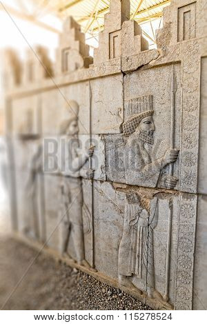 Residents of historical empire in Persepolis