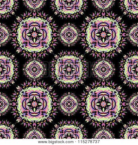 Ornament Beautiful Seamless Pattern With Mandala