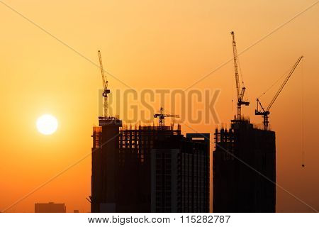 Construction Before Sunset