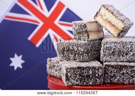 Traditional Australian Lamington Cakes