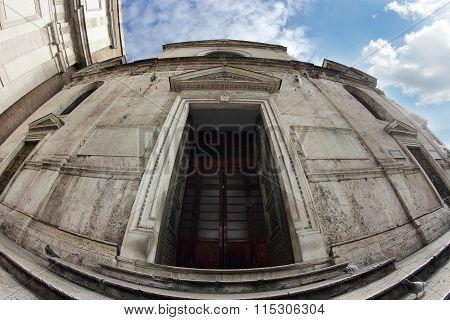 Santa Maria Del Popolo Church Exterior, Rome