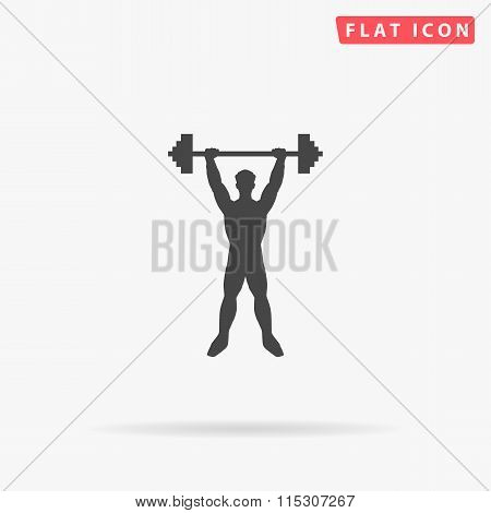 Strongman simple flat icon