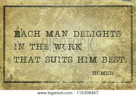 Work Delight Homer