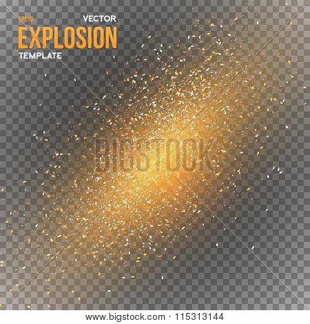 Vector Confetti Explosion Special Effect Isolated on Transparent