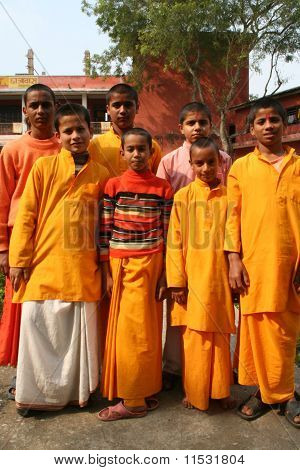 Cheerful Hindu Students In A Group.