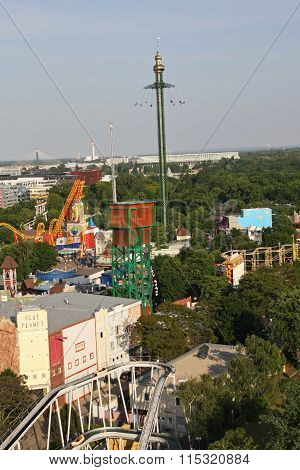 View of the various attractions