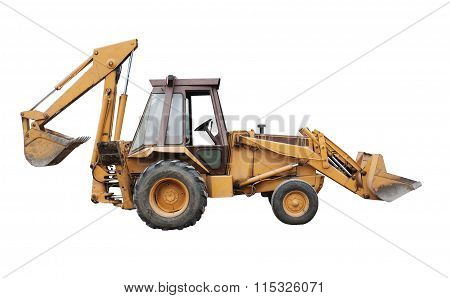 Front End Loader Isolated On White..
