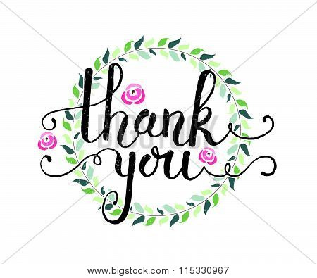hand sketched thank you text vector photo bigstock. Black Bedroom Furniture Sets. Home Design Ideas