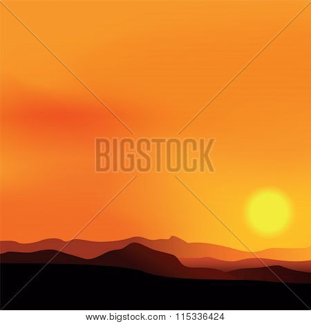 Vector Background With African Landscape
