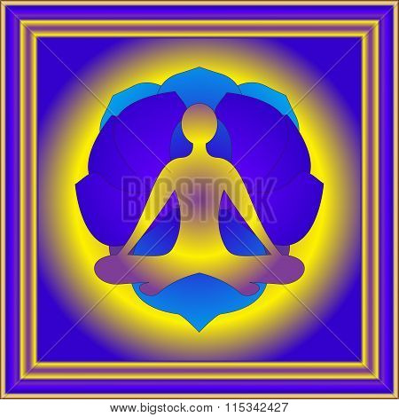 Yoga Element And Flower Of Lotos
