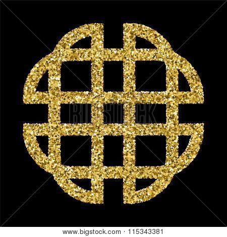Golden Glittering Logo Template