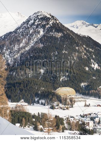 View of the Luxury hotel Intercontinental in Davos